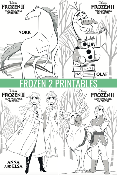 Frozen 2 Printables