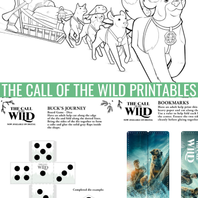 The Call of the Wild Activity Sheets: Celebrate the Movie Release