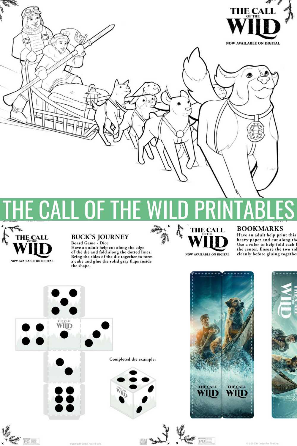 The Call of the wild printables