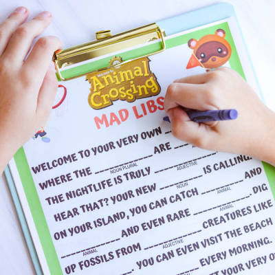 Free Animal Crossing Printable: Play Mad Libs with Animal Crossing Characters