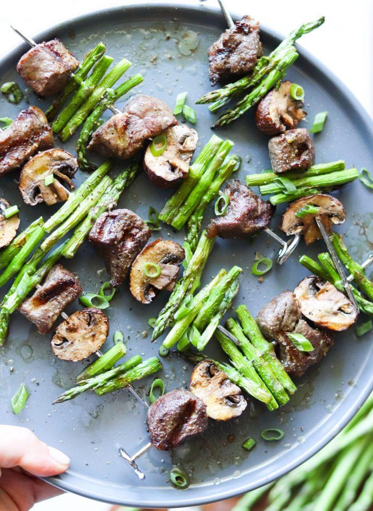 Beef Asparagus Kebabs