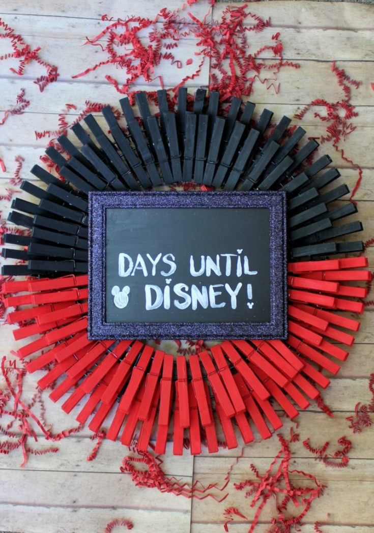 DIY Disney Countdown Wreath: Easy Dollar Store Craft