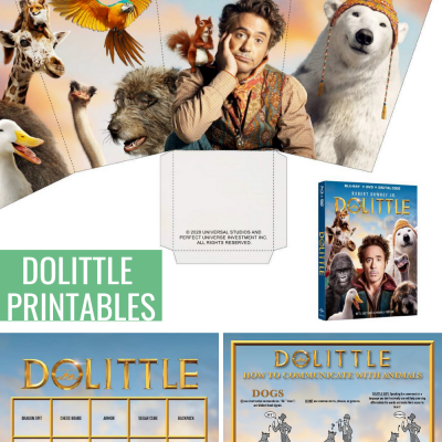 Dolittle Printable Movie Night Activities