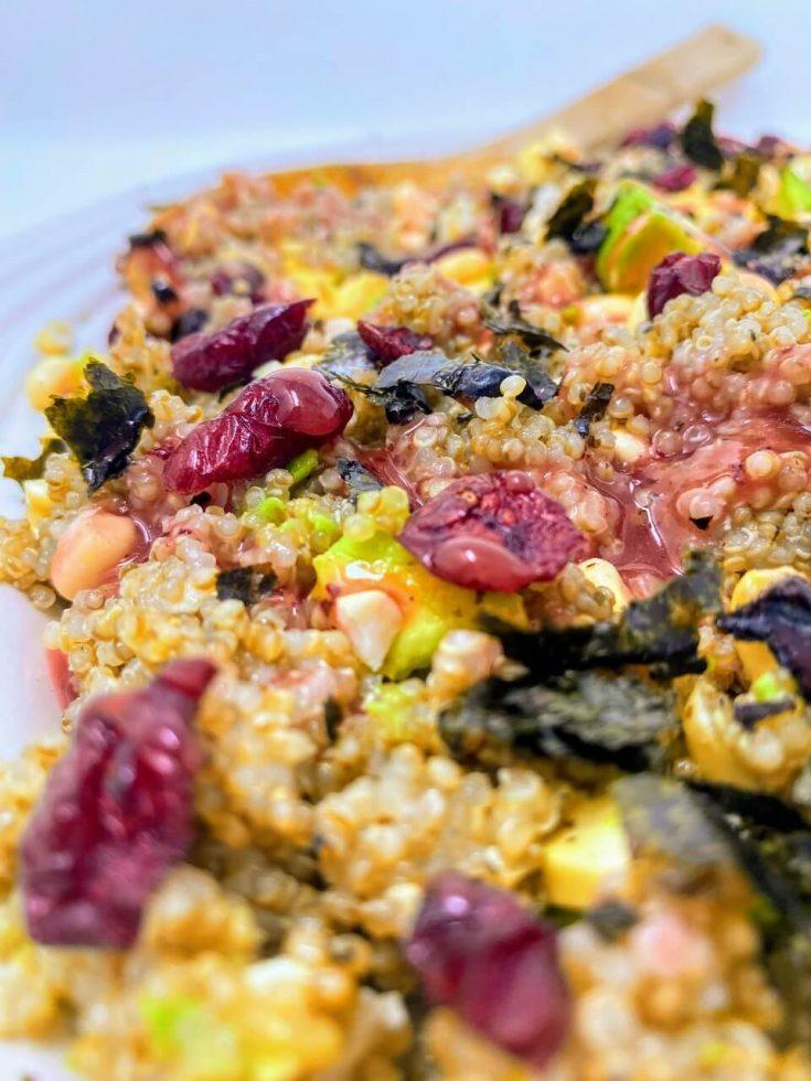 Cranberry Quinoa Pasta Salad Recipe -