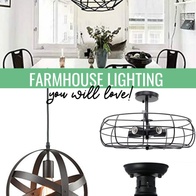 Rustic Lighting Fixtures: 10 Farmhouse Style Lighting Under $100