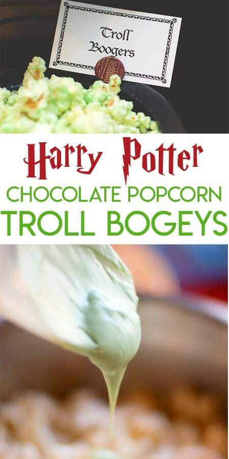 How to Make Green Troll Bogeys Chocolate Popcorn for a Harry Potter Party