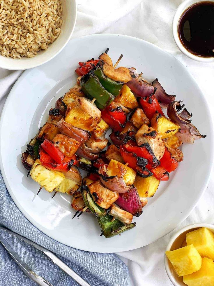 Grilled Pineapple Teriyaki Chicken Kebabs