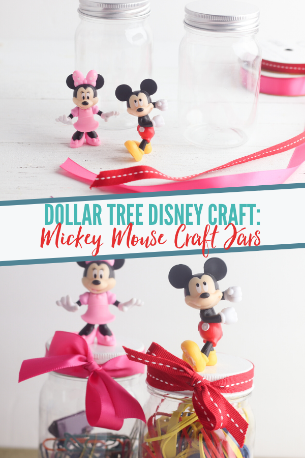 Mickey and Minnie Storage Jars