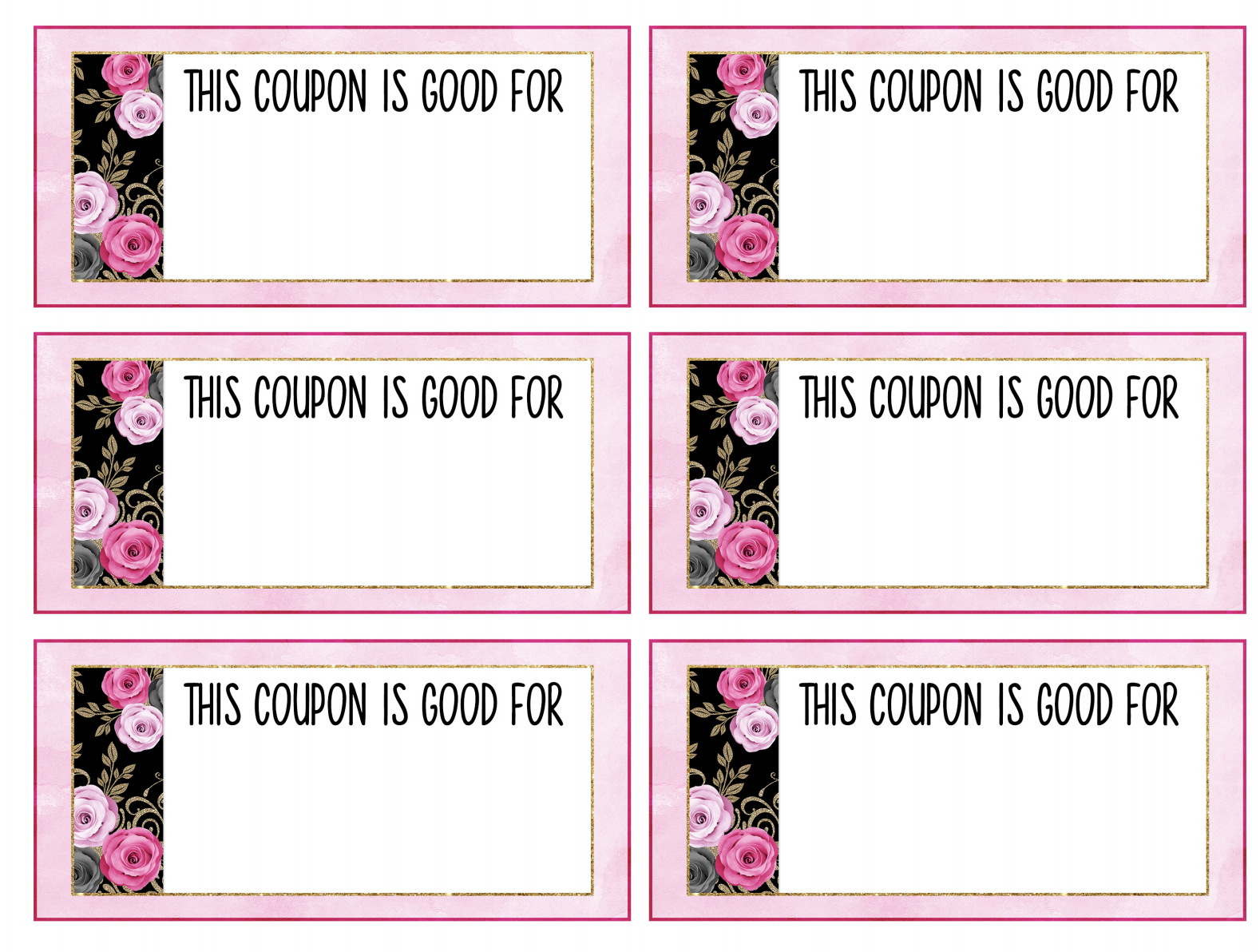 Mother's Day Coupon Printables