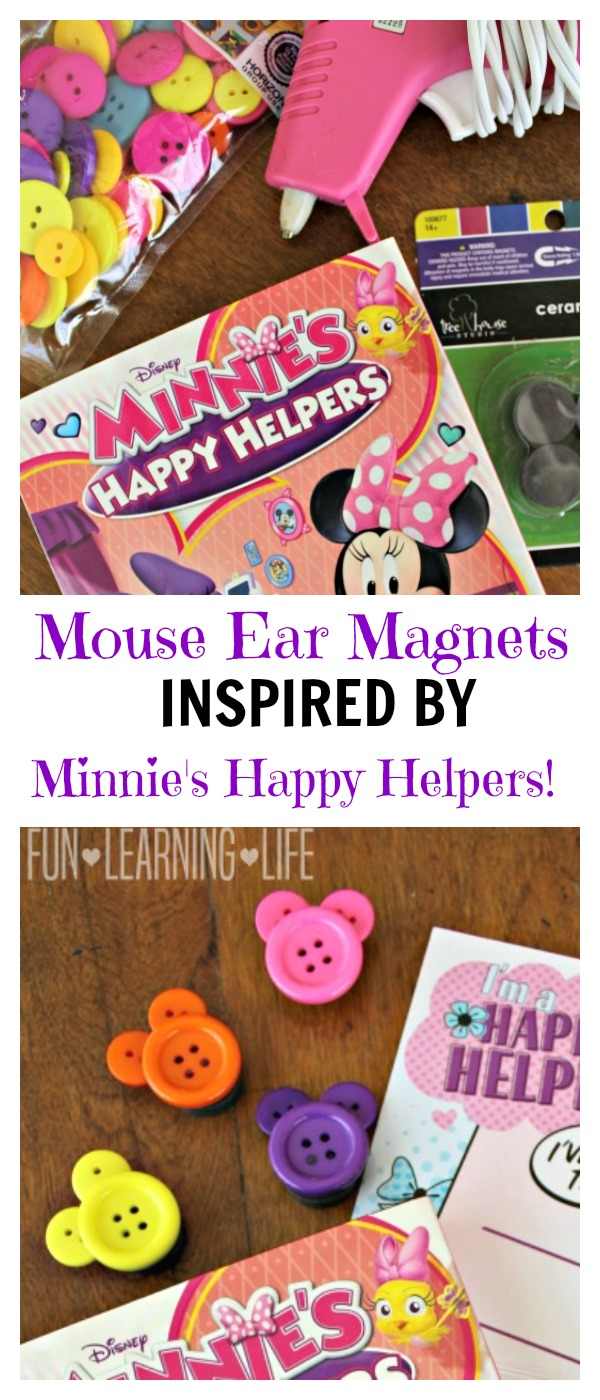 Mouse Ears Button Magnets