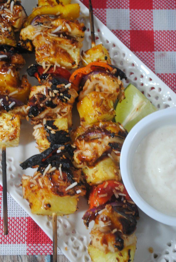 Grilled Pineapple Chicken Kabobs Recipe