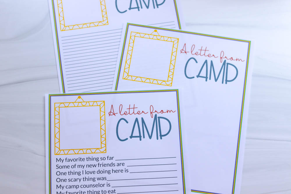 Printable Camp Letters