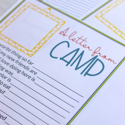 Letter From Camp: Printable For Kids