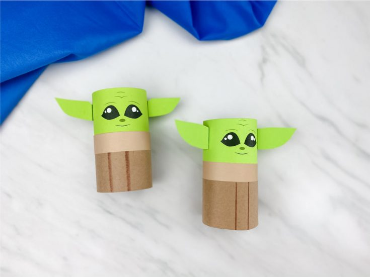 Toilet Paper Roll Baby Yoda Craft