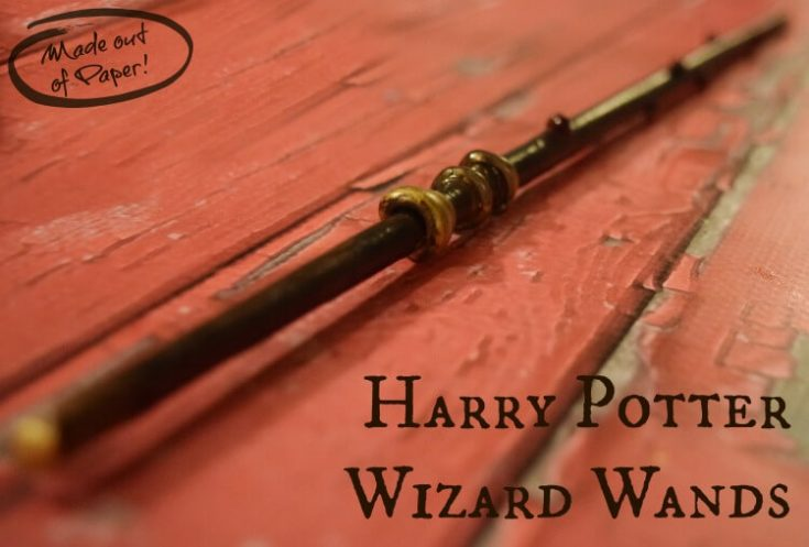 DIY Make a Wizard Wand with Paper