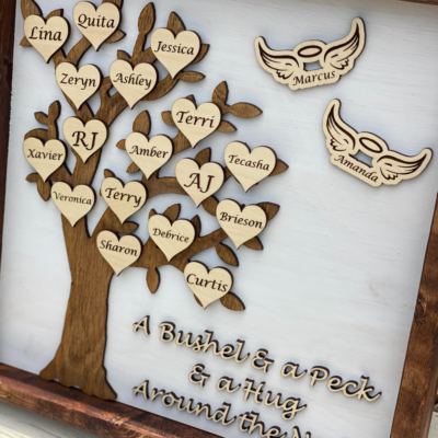 Grandparents Day Gift – Personalized Family Tree Sign