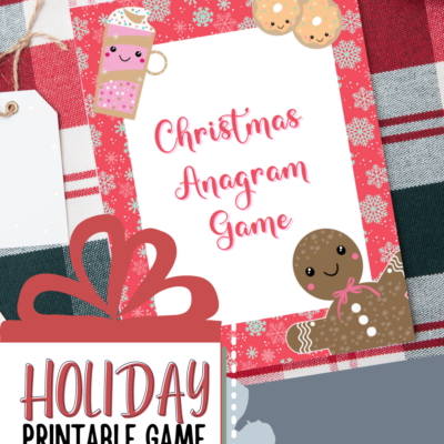 Christmas Printable: Christmas Anagram Activity