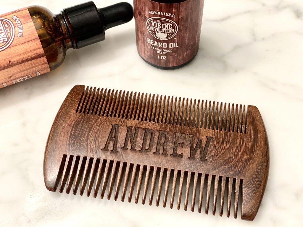 laser engraved beard comb