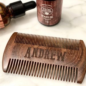 laser engraved beard comb
