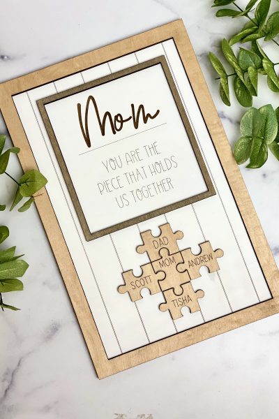 mom puzzle sign for Mother's Day
