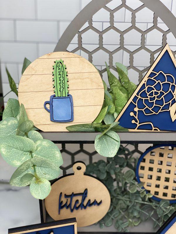 Shiplap Cactus Sign